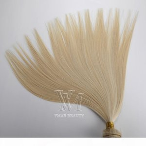 Wholesale 26 platinum blonde human hair extensions resale online - European Hair Weft to inch platinum blonde sunkissed blonde remy hair Human Hair Extension