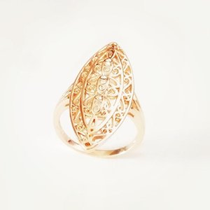 Wholesale infinity stones resale online - 585 Gold Women Rings Natural Stone Filled Party Ring Fashion Jewelry Long Infinity Gold Women Ring1
