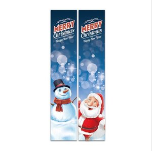Wholesale christmas decoration outside for sale - Group buy Porch Christmas Decorations Merry Christmas Banner Porch Sign Xmas Front Door Decor Outdoor Red Plaid Xmas Decor Outside Yard Signs DHA2501
