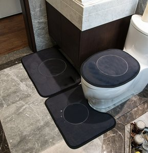 Wholesale bathroom rugs sets resale online - INS Toilet Seat Covers Tide Pattern Toilet Mats Home Hotel Non Slip Bathroom Mat Carpet Rugs Set