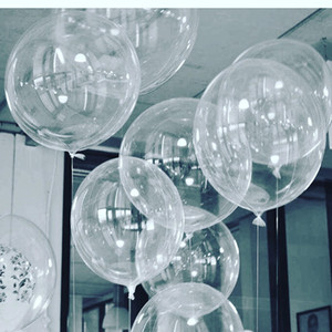 Wholesale kids' toys resale online - 50pcs No Winkles Transparent PVC Balloons inch Clear Bubble Helium Globos Wedding Birthday Party Decor Helium Balaos Kid Toys Ball
