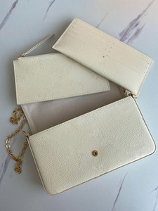 Wholesale market phones resale online - Classic embossed wallet ladies clutch accessory chain three piece set hot selling special products in the market discounted