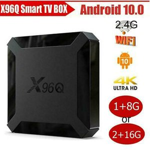 Wholesale android tv boxes 2g 16g for sale - Group buy X96Q tv box Android Smart GB GB G G Quad Core H313 HD G WIFI m lan
