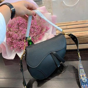 Wholesale vintage pu leather buckle bag for sale - Group buy 20FW Campagin Womens Embroidered Bag Horseshoe Buckle Handbag Leather Designer Handbags Oblique Shoulder Strap Tote Vintage Luxury Purse