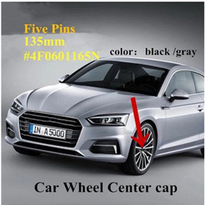 4PCS Wheel Hub Cap Center Cover 135mm ABS Hub Cap Logo sline 4F0601165 4F0601165N for A4L A6L Car Styling