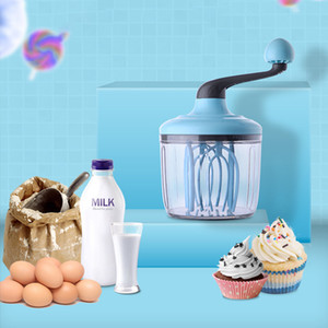 Wholesale plastic hand stick resale online - Semi automatic Mixer Non stick Egg Tools Silicone Whisk Cake Beater Manual Self Turning plastic Egg Cream Stirring Kitchen Tool Y1119