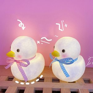 Wholesale cute room decor resale online - Duck Decorative Lamp Baby Night Light Led Lights Room Cute Animal Lighting Bedroom Decor Kids Room Decoration Luminaria Gift GWF3558