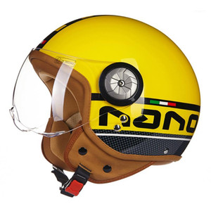 Wholesale half scooter open face motorcycle resale online - Motorcycle Helmet Vintage Open Face Scooter Moto Biker Helmets Men Women Vintage Motorbike Moto Helmet Visor1