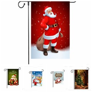 Wholesale outdoor christmas decorations resale online - Christmas Hanging Flag Flax Santa Door Banner Merry Christmas Outdoor Ornament Christmas Decorations for Home Xmas Gift New Year YHM571