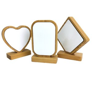 Wholesale frame photos for sale - Group buy DIY Manual Photo Frame Sublimation Blank Bamboo Love Heart Circular Picture Frames Base With Magnetism Double Sided Removable bd G2