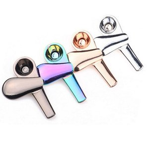 Wholesale rainbow smoke cigarettes for sale - Group buy New Rainbow Smoking Pipes Metal Spoon Magnet Smoking Pipe Zinc Alloy Magnetic mm Length mm diameter Tobacco Pipes Cigarette With Box
