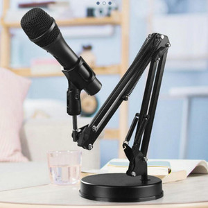 Wholesale mic stands for sale - Group buy Extendable Microphone Holder Table Stand Lazy Bracket Rotatable with Clamp Flexible Articulating Arm for Mobile Phone Mic