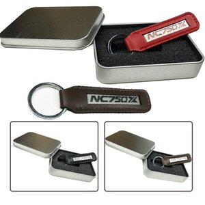 Wholesale metal motorcycle keychain for sale - Group buy Fashion Nc750x Metal Leather Keychain Chain Fits for Honda Nc x Nc750 x Xd xa Key Holder Motorcycle Accessories