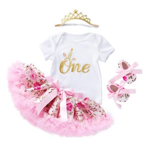 Wholesale baby clothing gift sets for sale - Group buy Rose Skirt Set New Born Baby Girls Romper Infant Outfits Girls Princess Toddler Kids Clothes Birthday Gifts