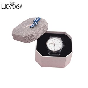 Wholesale korean jewelry free shipping resale online - Colorful Korean Style Jewelry Box Watch Box For Display Jewelry Gift Watch Organizer Storage with Bow For
