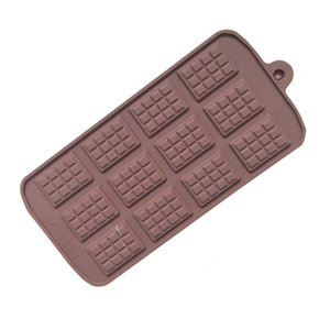Wholesale diy rubber block resale online - Epoxy Resin Silicone DIY Mold Rectangle Large Size Chunk Mould Chocolate Waffle Candy Jelly Ice Block Cake Molds High Quality ld L2