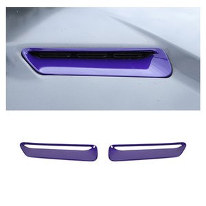 ingrosso auto scoop-Purple Cowl Vent Hood Scoop Air Vent Trim Cashels for Dodge Challenger Up Car Accessori interni auto