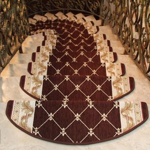Wholesale step rugs for sale - Group buy 1PCS Non Slip Stairs Carpet Pastoral Floral Rug Living Room Soft Stairway Stair Step Mat