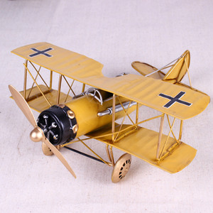 Wholesale metal airplanes toys for sale - Group buy Vintage Metal Plane Home Ornaments Aircraft Model Toys For Children Airplane Miniature Models Retro Creative Home Decor T200710