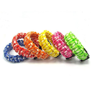 Wholesale paracord bracelets for sale - Group buy 20pc New Colorful Survival Paracord Bracelet Men Outdoor Camping Hiking Buckle Bracelet Women Wristband Male Jewelry Gift H bbyCPO