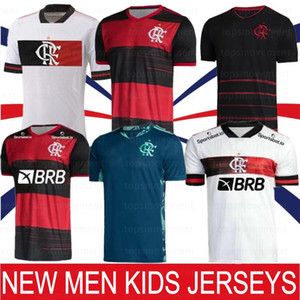 20 21 Flamengo GABRIEL Barbosa Soccer Jerseys DE ARRASCAETA Football Shirts Kids Kit GERSON B.HENRIQUE Uniform Camisa Feminina 2021