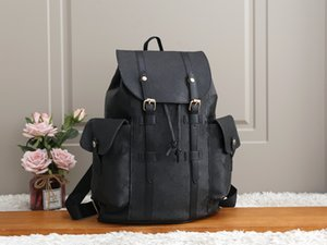 Wholesale men leather schoolbag for sale - Group buy Men Women Leather Christopher Backpack Luxury Designers knapsack Brand Classic Flowers Plaid Schoolbag Satchel Back pack