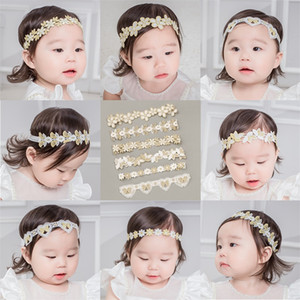 Wholesale kids lace hairband resale online - Baby Hollowing Out Lace Headband Girls Embroidery Daisy Flowers Elastic Hairband Kids Fashion Hair Accessories mq J2