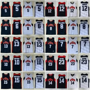 ingrosso pullover di basket americano-Vintage Dream Team Ten Jersey Kevin Durant Kebe Bryamt James Harden Chris Paul Basket Plackball Jerseys American Team