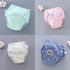 Wholesale baby cloth diapers cartoons for sale - Group buy 23 Colors Baby Diaper Cartoon Print Toddler Training Pants Layers Changing Nappy Infant Washable Cloth Diaper Panties Reusable K2