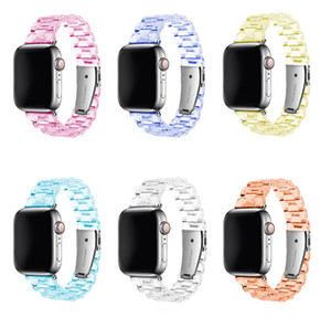 Wholesale wirst watch resale online - Newest Sport Strap for Apple Watch Band Series Resin Loop Transparent for Iwatch Strap mm mm mm mm wirst