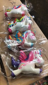 Wholesale toy unicorn horse rainbow for sale - Group buy Rainbow cm Colorful Unicorn Flying Horse Squishy toys Horse Slow Rising Soft Squeeze Phone Charms Squeeze Kawaii Kid