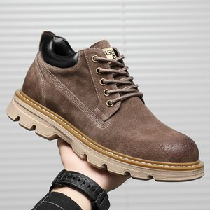 Wholesale tooling leather for sale - Group buy 2020 autumn new men s casual shoes leather fashion street retro trendy shoes tooling leather boots shoes