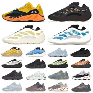 koşu ayakkabıları 700  toptan satış-Boost Blue Oat Reflective Kanye West men women Running shoes V3 Mist Azael Alvah Phosphor wave runner s s Outdoor sports designer sneakers