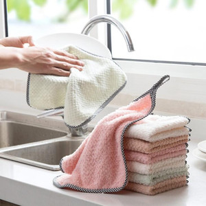 Wholesale microfibre cloths resale online - The Spot Cleaning Cloths Home Kitchen Household Wash Duster Cloths Multifunctional Microfibre Towel Cleaning Cloth FWD3040