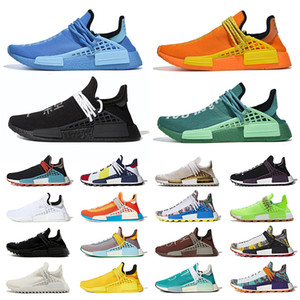 schuhe herzen großhandel-Pharrell Williams x adidas NMD Human Race Trail Hu Extra Eye Inspiration Powder Solar Pack Heart Mind Schuhe Herren Frauen Laufen Turnschuhe Trainer