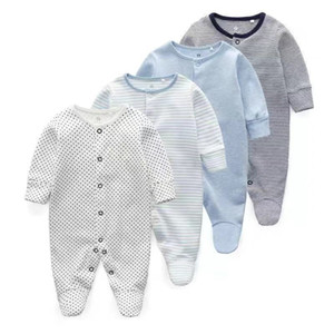 Wholesale newborn footed pajamas for sale - Group buy Newborn Baby Clothes Babies Girl Footed Pajamas Roupa Bebe Pack Long Sleeve Months Infant Boy Jumpsuits LJ201023