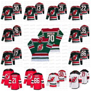 Mackenzie Blackwood New Jersey Devils 2021 Reverse Retro Jersey Dawson Mercer Hughes Corey Crawford Gusev Subban Hayden Hischier Schneider