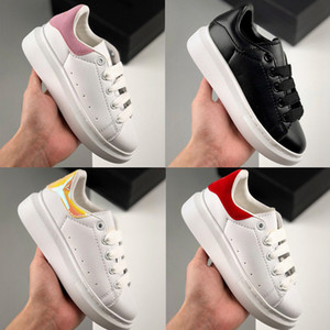 Wholesale sneakers for girls resale online - 2020 Kids shoes for Boy Girls fashion leather sneakers M reflective black white velvet Thick soled flat Height Increasing kids casual s