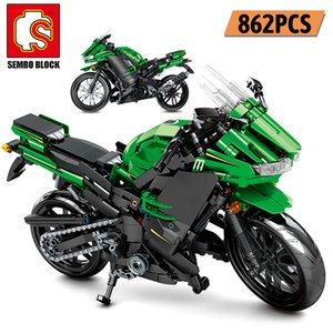 Wholesale children motorcycle resale online - SEMBO Creator City Off road Motorbike Model Building Blocks Technic Racing Car Motorcycle Educational Gifts Toys For Children LJ200925