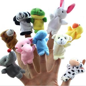 Wholesale baby hand puppets resale online - 10pcs Baby Stuffed Plush Toy Finger Puppets Tell Story Animal Doll Hand Puppet Kids Toys Children Gift With Animal Group G2