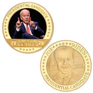 Wholesale golds coins resale online - US Presidential Election Joe Biden Gold Plated Coin Collectibles USA Challenge Coins Original Coin Medal Gifts for Man GWA2827