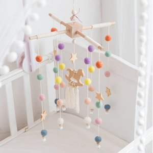 Wholesale crib mobile arm for sale - Group buy Baby Mobile Hanging Rattles Toys Wind up Music Box Hanger DIY Hanging Baby Crib Mobile Bed Bell Wood Toy Holder Arm Bracket Y0126