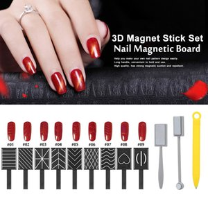Wholesale magical sticks for sale - Group buy 12 Pieces D Magnet Stick Set Magnetic Cat Eye Pen Drawing Vertical Stick For UV Gel Polish Magical Nail Tools