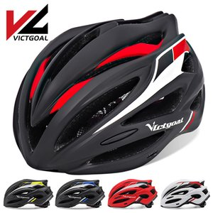 Wholesale visor bike helmet resale online - VICTGOAL Bike Helmet for Men Women Cycling Helmet LED Light Ultralight Bicycle Helmets Visor Mountain Road Bike MTB Helmets Q0120