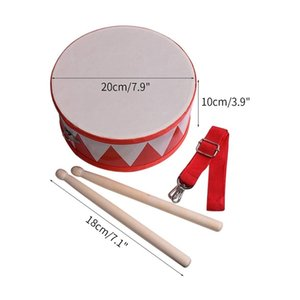 Wholesale drum sets for sale - Group buy Kids Drum Wood Toy Drum Set with Carry Strap Stick for Kids Toddlers Gift for Developing Children s Rhythm Sense C0119