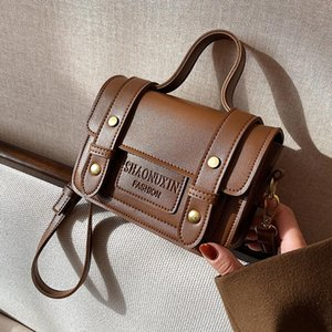 Wholesale vintage pu leather buckle bag for sale - Group buy Vintage letters Magnetic buckle square Fashion High quality PU Leather Women s Designer Handbag Tote Shoulder Messenger Bag