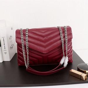 New designer luxury handbag designer shoulder bag ladies handbag fashion luxury metal chain leather crafted model:459749 A123