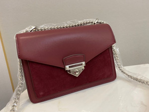 Wholesale butterfly print messenger bag resale online - Bag Single Flap Shoulder Chain Classic High Quality Women s Wine Butterfly Box Design Fine Leather Red With Messenger Xcehg