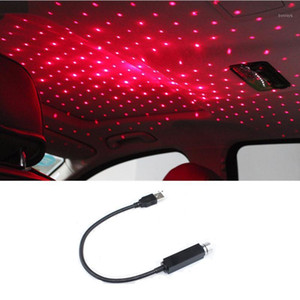Wholesale interior decorative resale online - Adjustable USB Car Interior Decorative Light Mini LED Car Roof Star Night Lights Projector Atmosphere Lamp Room Party Decoration1