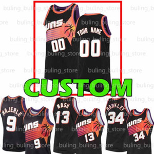 Wholesale custom jerseys basketball for sale - Group buy Custom Phoenix Suns Men DeAndre Ayton Dan Majerle Shawn Marion Cameron Johnson Chris Devin Paul Booker Basketball Jerseys